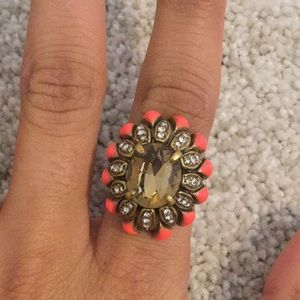 Coral and gold Stella and Dot ring